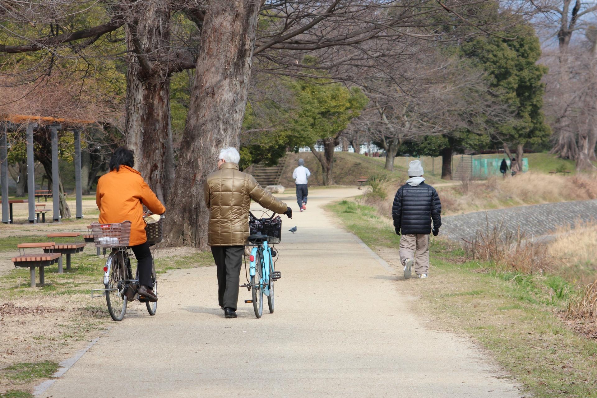 自転車でかかる時間を徒歩に換算すると?